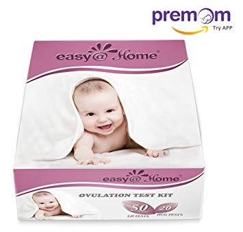 Easy@Home 50 Ovulation Test Strips and 20 Pregnancy Test Strips Kit - the Reliable Ovulation Predictor Kit...