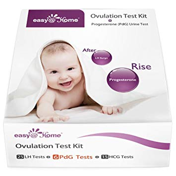 Easy@Home New FDA Registered 6 Progesterone (PdG) Test, 25 Ovulation (LH) Test and 15 Pregnancy...