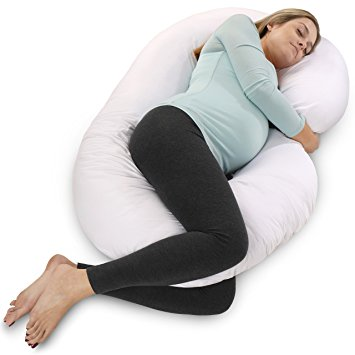 PharMeDoc Full Body Pregnancy Pillow - Maternity Pillow for Pregnant Women - C Shaped Body Pillow...
